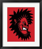 Framed Angry Lion