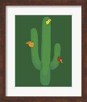 Framed Birds in a Cactus