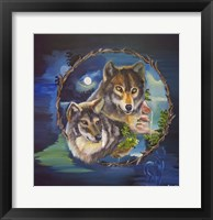 Framed Magical Wolves