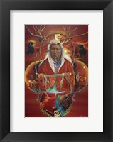 Framed Peace Pipe Offering