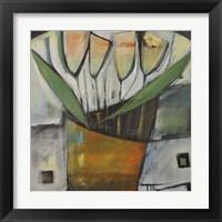 Framed Tulips In Terracotta