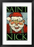 Framed Saint Nick Poster