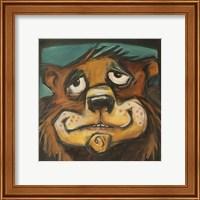 Framed Bear Poster