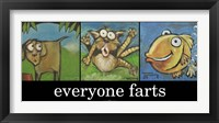 Framed Everyone Farts Poster