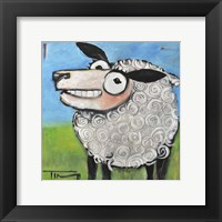 Framed Sheep Poster