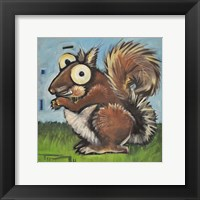 Framed Squirrel Poster