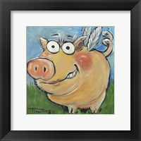 Framed Hovering Pig
