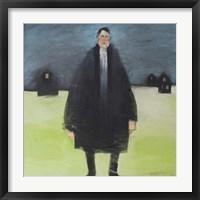 Man In Black Coat Framed Print