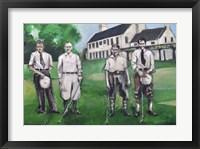 Framed Vintage Golfers