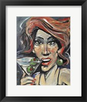 Framed Woman With Martini