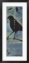 Framed Blackbird On Branch