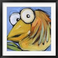 Gold Bird 2 Framed Print