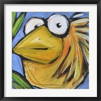 Gold Bird 3 Framed Print