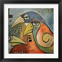 Framed Trois Oiseaux