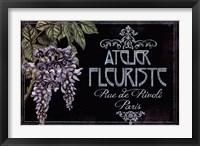 Framed Chalk Marches Fleurs III