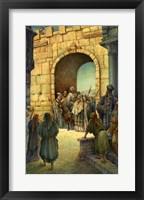 Framed Jesus Enters Jerusalem