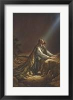 Framed Jesus Kneeling