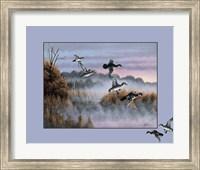 Framed Ducks In Flight 2