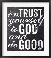 Framed Entrust Yourself To God