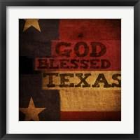 God Blessed Texas Framed Print