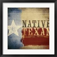 Native Texan Framed Print
