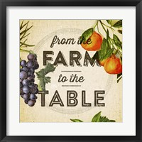 Framed Farm To Table I