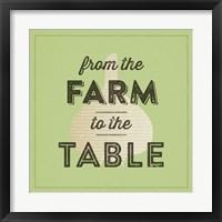 Farm To Table II Framed Print