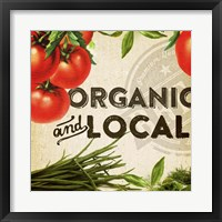 Organic And Local I Framed Print