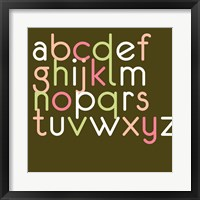 Contemporary Baby Letters II Framed Print