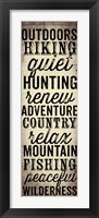 Hunting and Fishing Typography II Framed Print