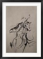 Framed Cellist Sketch