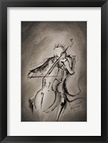 Framed Cellist
