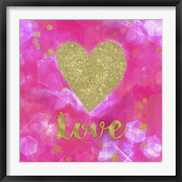 Framed Glitter Love Pink