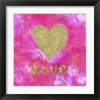 Framed Glitter Love Pink