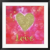 Glitter Love Framed Print