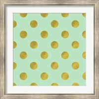 Framed Golden Mint Dots