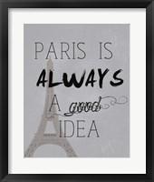 Framed Paris Is Always a Good Idea