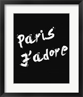 Paris Jadore Framed Print