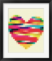 Rainbow Heart Framed Print