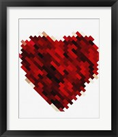 Rouge Heart Framed Print