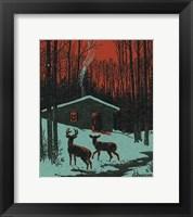 Framed Winter Cabin