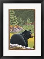 Framed Black Bear 1