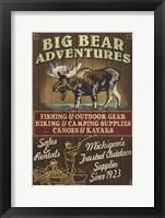 Framed Big Bear Adventures