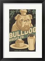 Bulldog Biscuit Co. Framed Print