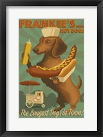 Framed Farnkie's Hot Dogs