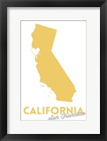California - SF Framed Print