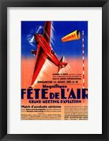 Framed Fete de L'Air