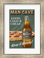 Framed Man Cave Beer