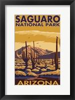Saguaro AZ Framed Print