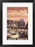 Badlands SD Framed Print